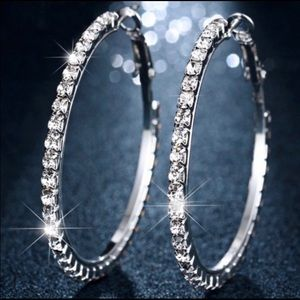 925 Sterling Silver 6.0cm Hoop Earrings